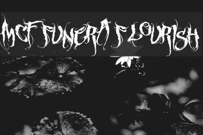 MCF funera flourish Font examples