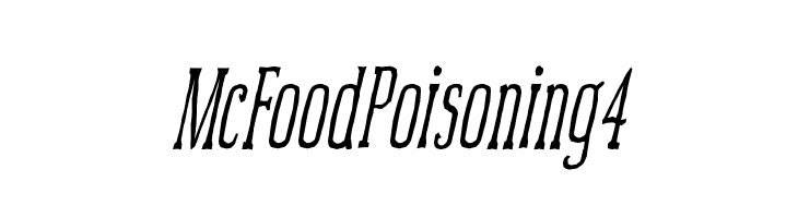 McFoodPoisoning4  Free Fonts Download