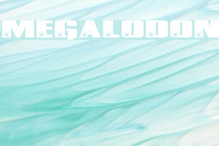 MEGALODON Font examples