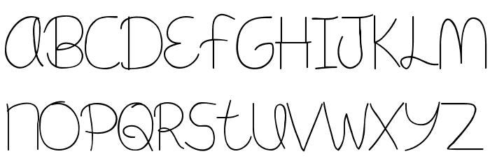 Meant To Be Font LOWERCASE