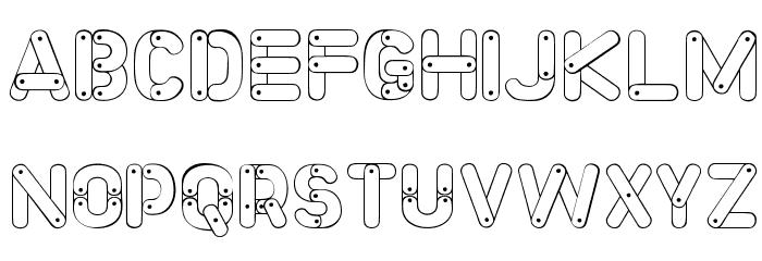 Meccano Font Font LOWERCASE