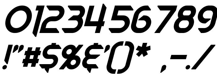 Mech Tech Italic Font OTHER CHARS