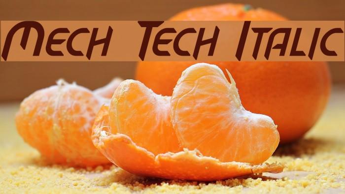 Mech Tech Italic Font examples