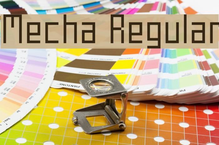 Mecha Regular Font examples
