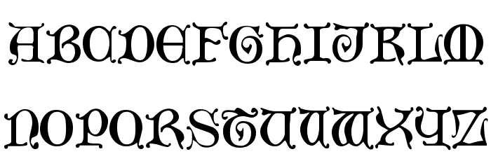 Mediaeval Caps Font UPPERCASE