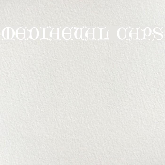 Mediaeval Caps Font examples