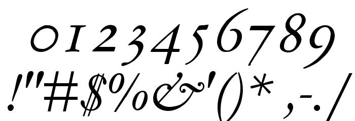 MediaevalItalique Шрифта ДРУГИЕ символов