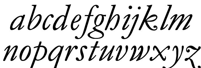 MediaevalItalique Шрифта строчной