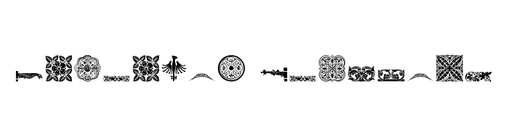 Medieval Dingbats  नि: शुल्क फ़ॉन्ट्स डाउनलोड