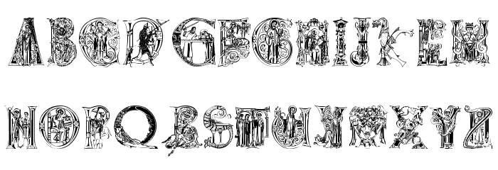MedievalAlphabet Font UPPERCASE