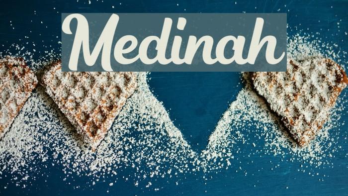 Medinah Caratteri examples