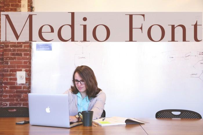 Medio Font examples