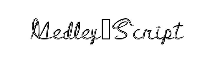 Medley_Script  Free Fonts Download