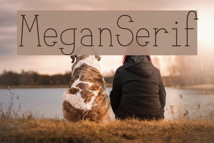 MeganSerif لخطوط تنزيل examples
