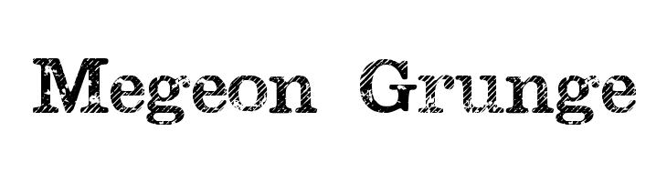 Megeon Grunge  नि: शुल्क फ़ॉन्ट्स डाउनलोड