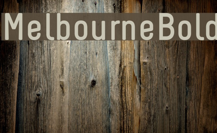 Melbourne-Bold Font examples