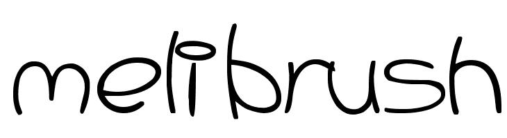Meli Brush  Free Fonts Download