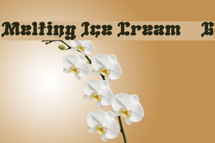 Melting Ice Cream__G Font examples
