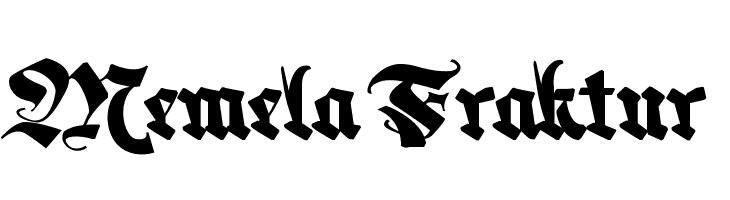 Memela Fraktur  Скачать бесплатные шрифты