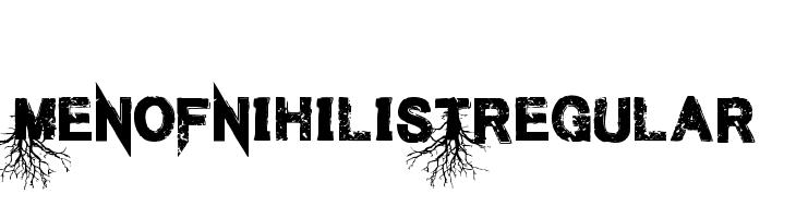 Men of Nihilist Regular  नि: शुल्क फ़ॉन्ट्स डाउनलोड