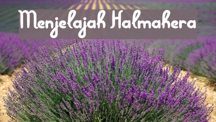 Menjelajah Halmahera Font examples