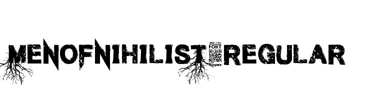 MenofNihilist-Regular  Скачать бесплатные шрифты