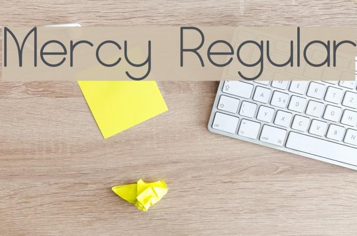 Mercy Regular Font examples