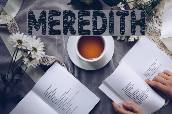 Meredith फ़ॉन्ट examples