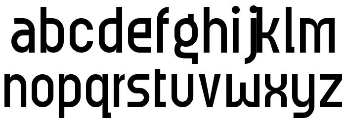 Meridiana Regular Font LOWERCASE