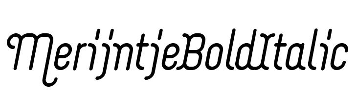 Merijntje Bold Italic  font caratteri gratis