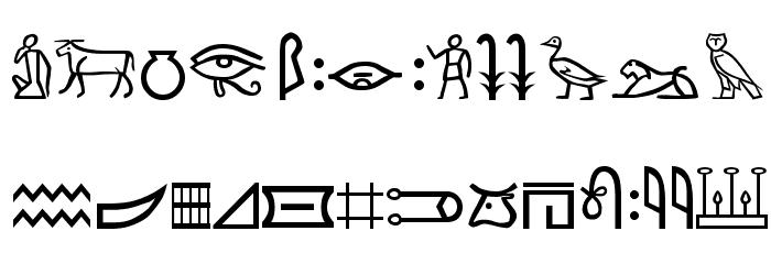 Meroitic - Hieroglyphics Font LOWERCASE