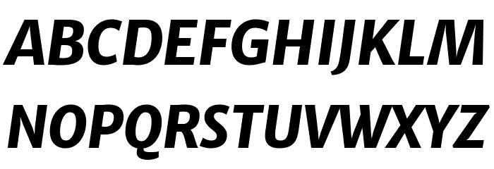 Merriweather Sans ExtraBold Italic Fonte MAIÚSCULAS