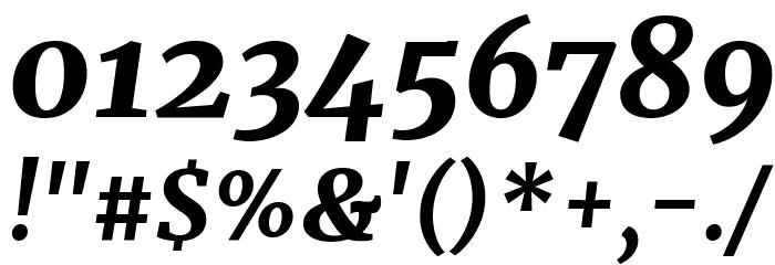 Merriweather UltraBold Italic Шрифта ДРУГИЕ символов