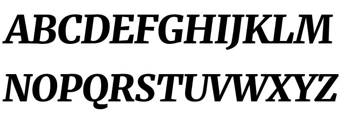 Merriweather UltraBold Italic Шрифта ВЕРХНИЙ