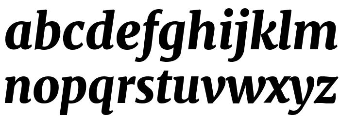 Merriweather UltraBold Italic Шрифта строчной
