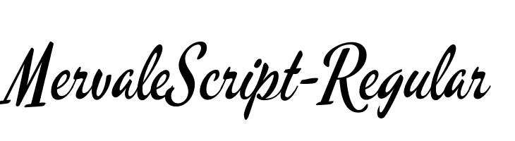 MervaleScript-Regular  Free Fonts Download
