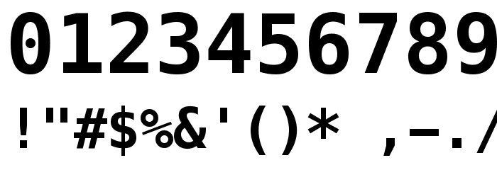 Meslo LG L DZ Bold Font OTHER CHARS