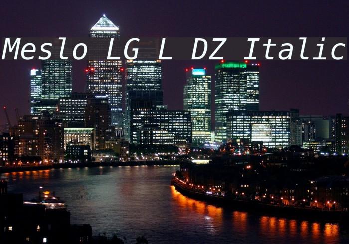 Meslo LG L DZ Italic Шрифта examples