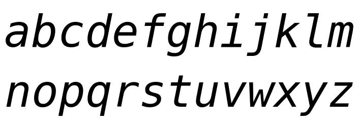 Meslo LG L DZ Italic Шрифта строчной