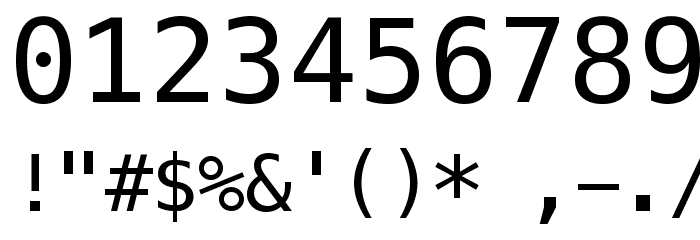 Meslo LG L DZ Regular Font OTHER CHARS