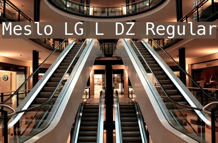 Meslo LG L DZ Regular Font examples