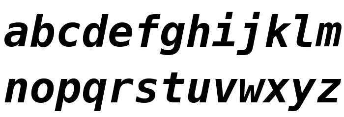 Meslo LG M DZ Bold Italic Шрифта строчной