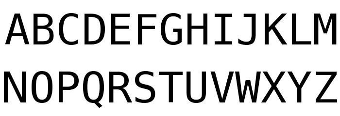 Meslo LG M DZ Regular Font Litere mari