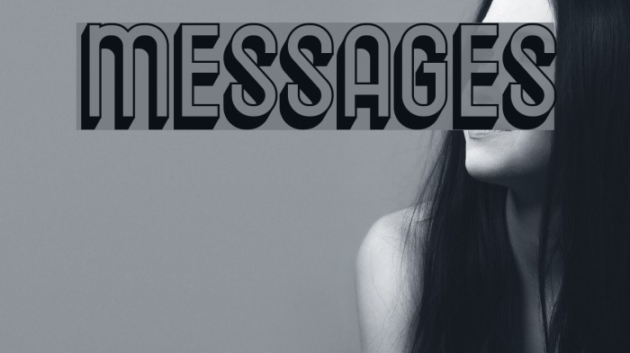 Messages Schriftart examples