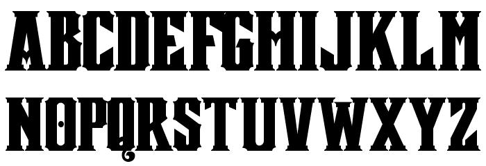 Mestizo Font Caratteri MAIUSCOLE