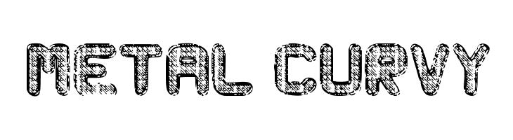 Metal Curvy  Скачать бесплатные шрифты