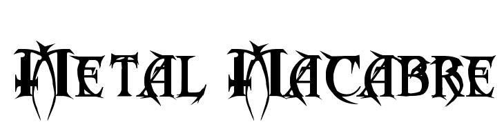 Metal Macabre  नि: शुल्क फ़ॉन्ट्स डाउनलोड