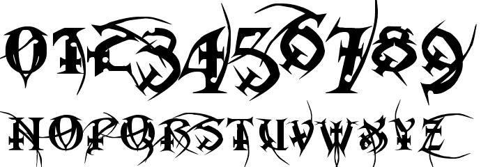 Metal Macabre Font OTHER CHARS