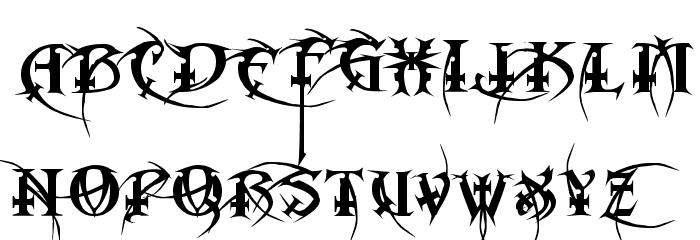 Metal Macabre Font UPPERCASE