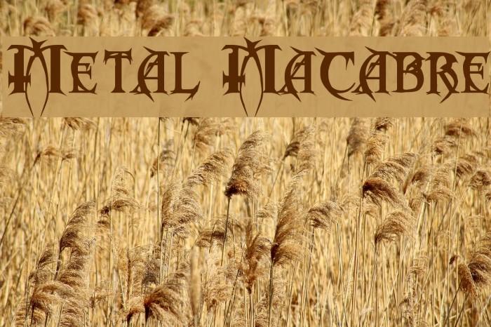 Metal Macabre Font examples